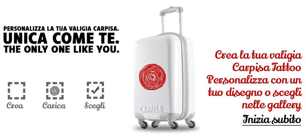 244b09e2494e 8 ottobre 2014 - Per una valigia personalizzata, subito riconoscibile,  arriva Carpisa Tattoo, progetto di Carpisa per trasformarla in un oggetto  unico e ...