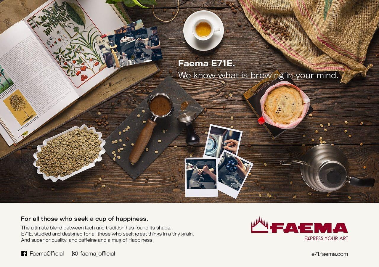 29 giugno 2018 - Dopo il lancio di Faema E71 e del temporary store Faema  Art Caffeine al Fuorisalone 2017 3d249d483dce