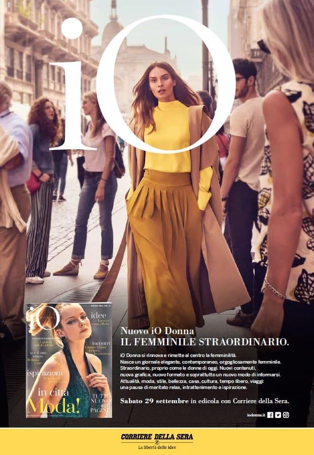 """... settembre il nuovo Io Donna, il settimanale femminile allegato al  Corriere della Sera e diretto dallo scorso febbraio da Danda Santini. """"La  nostra è una ... 79ae15a0b95"""