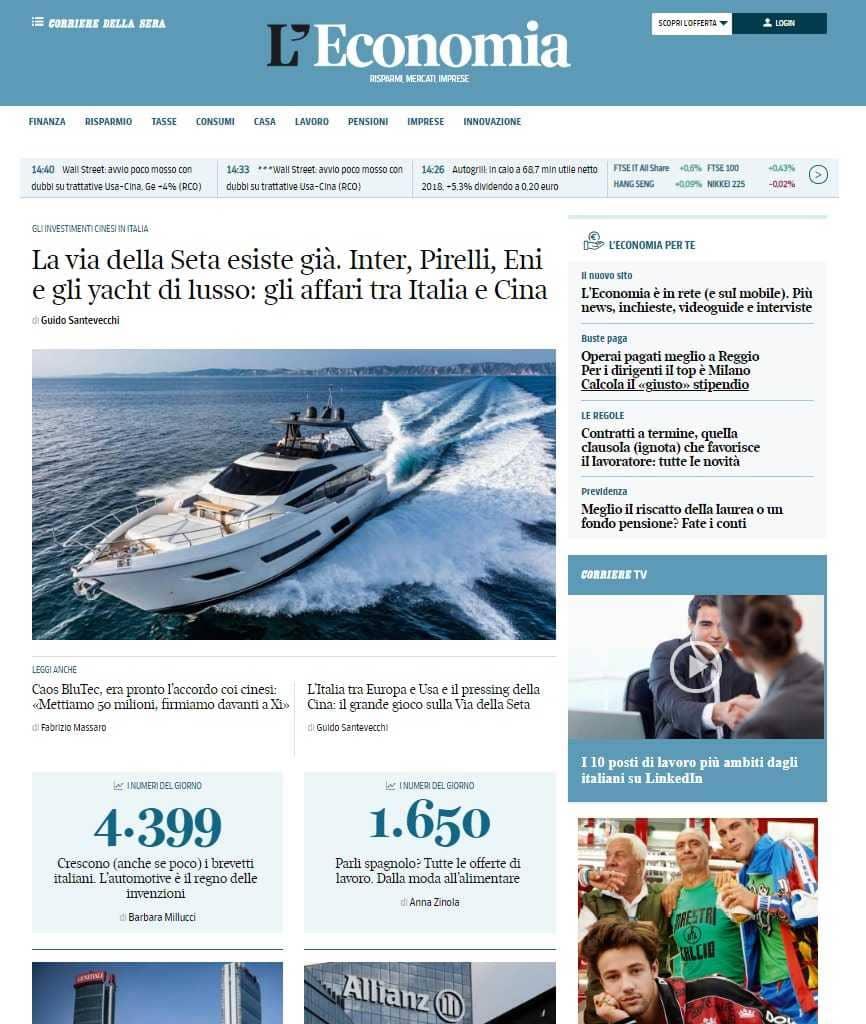 reputable site 5c8b5 e637a 26 marzo 2019 - Corriere della Sera presenta economia.corriere.it, nuovo  sito dell area economica del quotidiano, con aggiornamenti minuto per  minuto e ...
